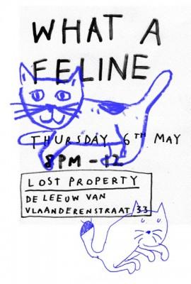 artist Saskia janssen and artist Uta Eisenreich, a poster for a workshop on cats