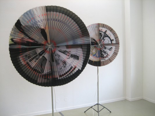paper fans by Saskia Janssen at Ellen de Bruijne PROJECTS, Amsterdam, 2009