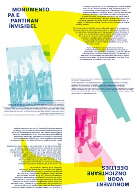 Saskia Janssen, flyer for commissioned work at the Dutch Tax Office Bonaire, graphic design Jaan Evart