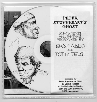 Saskia Janssen made an artist CD for the exhibition Peter Stuyvesant's Ghost, New York City, 2005, graphic design by Jaan Evart