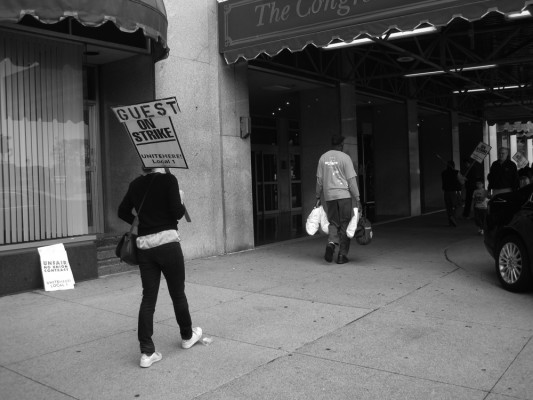Saskia Janssen, artist, Guest on Strike, Chicago, 2011