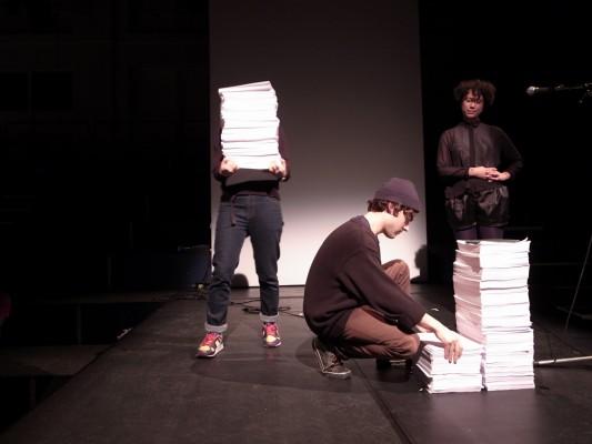 artist Saskia Janssen and artist Uta Eisenreich performance program for Rietveld Uncut, De Brakke Grond