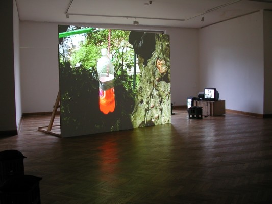 overview of exhibition by Saskia Janssen, artist, at The Brno House of Art, 2003