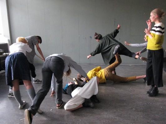 performance workshop for basic year GRAC by artist Saskia Janssen