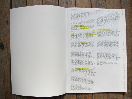 interview with artist Saskia Janssen in catalogue for Museum Perron Oost, 2014