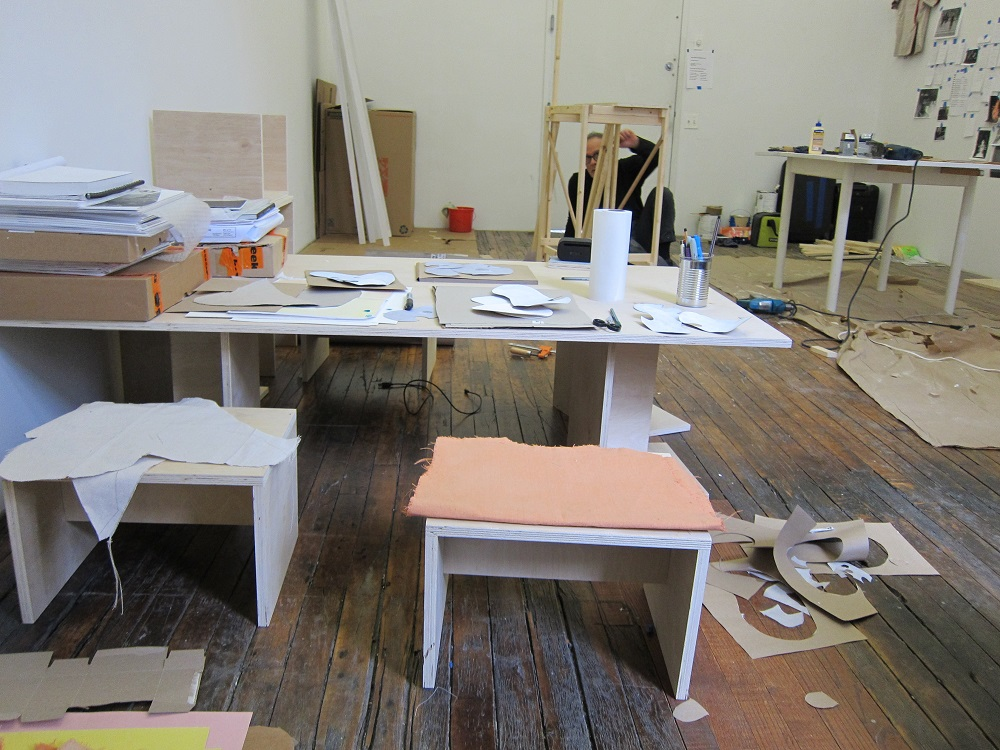 Saskia Janssen's studio at ISCP, New York, 2015